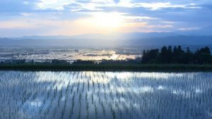 写真提供/映画・おだやかな革命。映画で登場する会津盆地