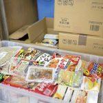フードバンク(荒川区)に届いた食品の寄付