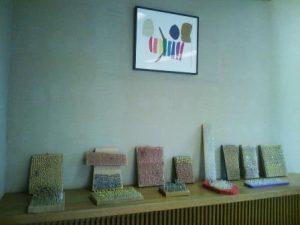 10周年記念イベント会場での障がい者アート作品