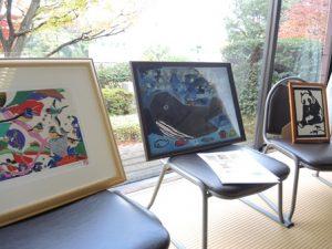 10周年イベント会場で展示された障がい者アート作品