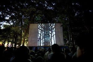 どんぐり林ではじまった幻燈会